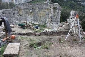 Chantier de la campagne de fouilles 2012