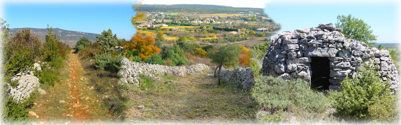 Drailles et cabane sur les hauteurs de St-Remèze