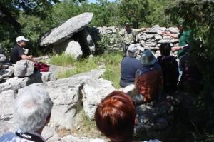 Présentation d'un des dolmens du Ranc-de-Figère sur la commune de Labeaume.