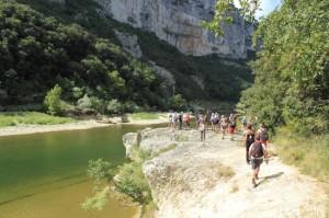 La progression au fond des Gorges, un cadre idyllique.