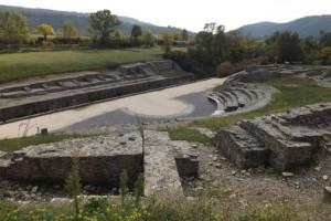 Le théâtre d'Alba construit au IIe s. apr. J.-C.
